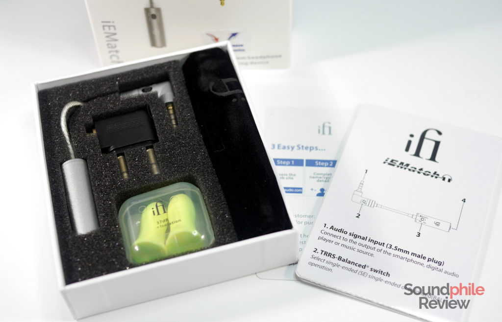iFi IEMatch packaging and accessories
