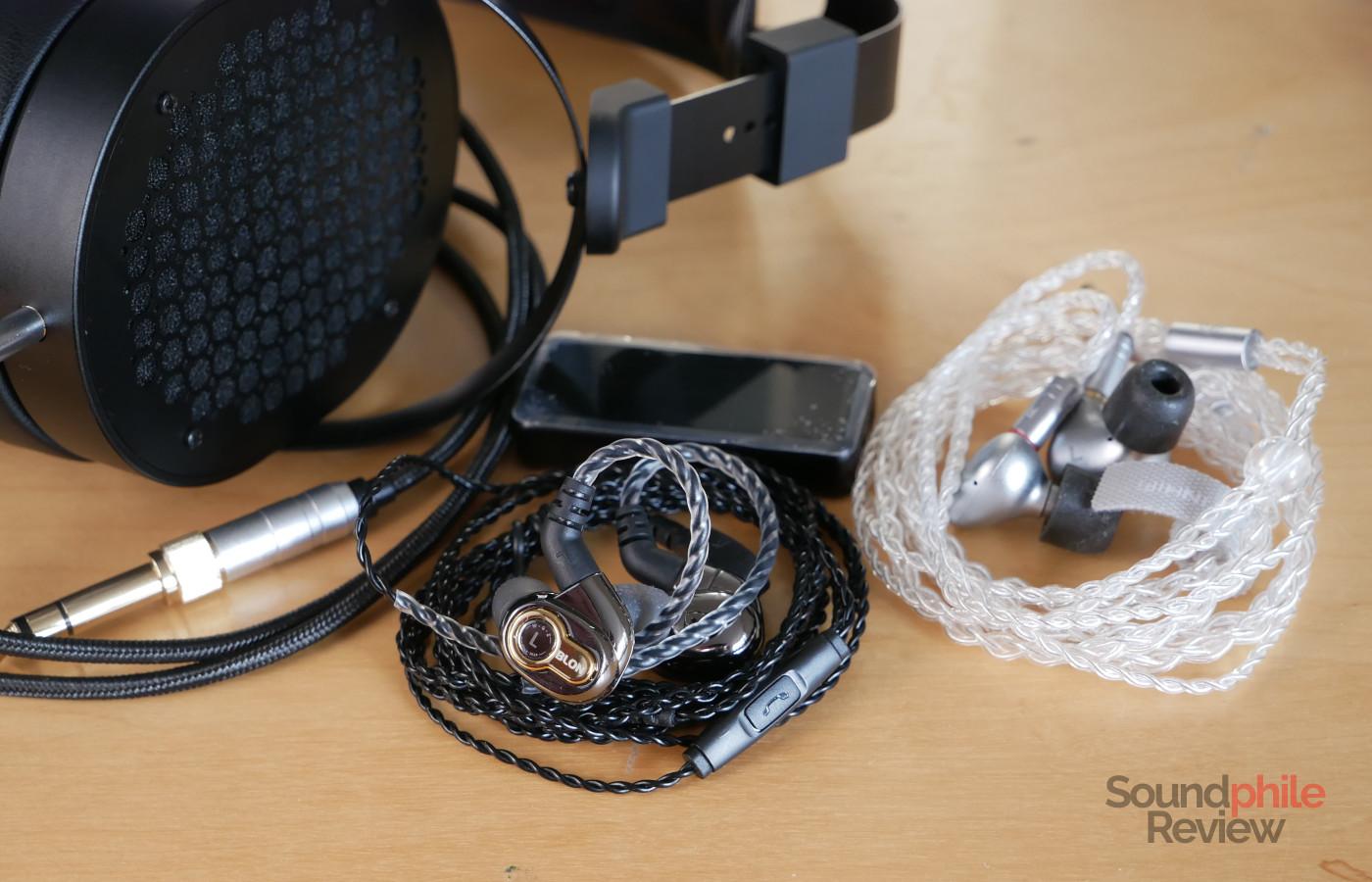 Headphones in Pictures Blon BL-05 Tin T2 Plus Gold Planar GL600 FiiO BTR3K
